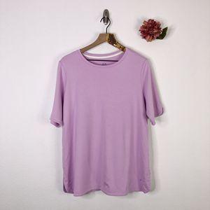 ISAAC MIZRAHI Elbow Sleeve T-Shirt